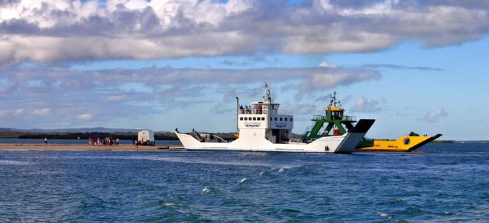 Ferry Ride Fraser Island, Australia