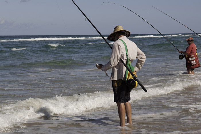 Fishing on Fraser Island