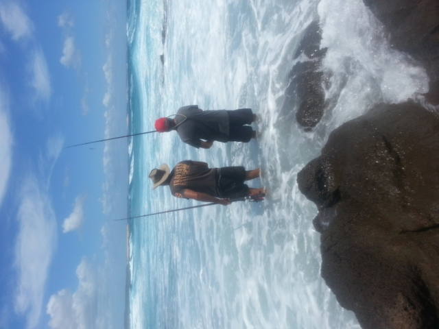 waddy point rock fishing - Fraser island