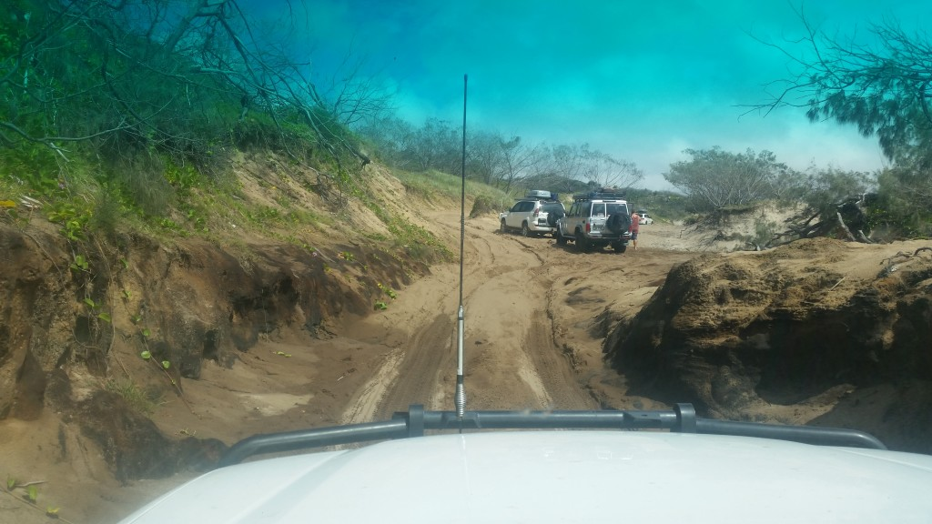 Nkgala track on Fraser island is notorious for 4WD