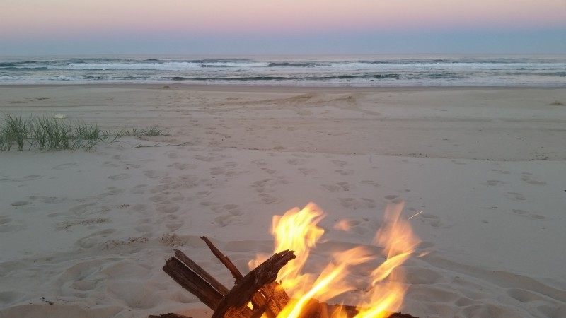 a legal camp-fire on Fraser island