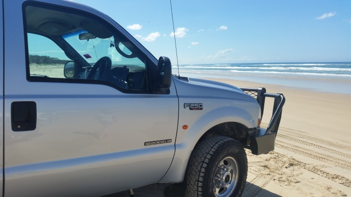 A 4WD is needed on Fraser Island