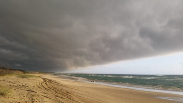 An incoming storm front on Fraser Island