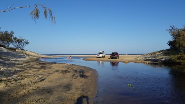 lovely freshwater swimming spot at Orange creek Fraser Island