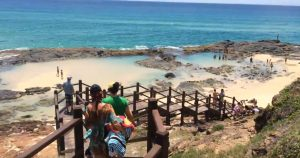 Champagne Pools boardwalk and stairscase