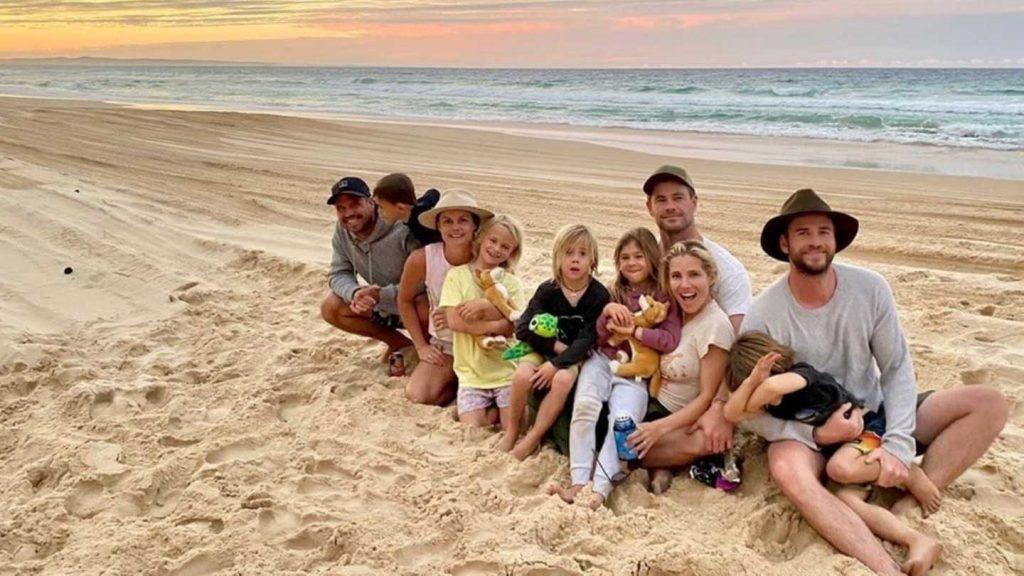 Hemsworth family visit Rainbow Beach