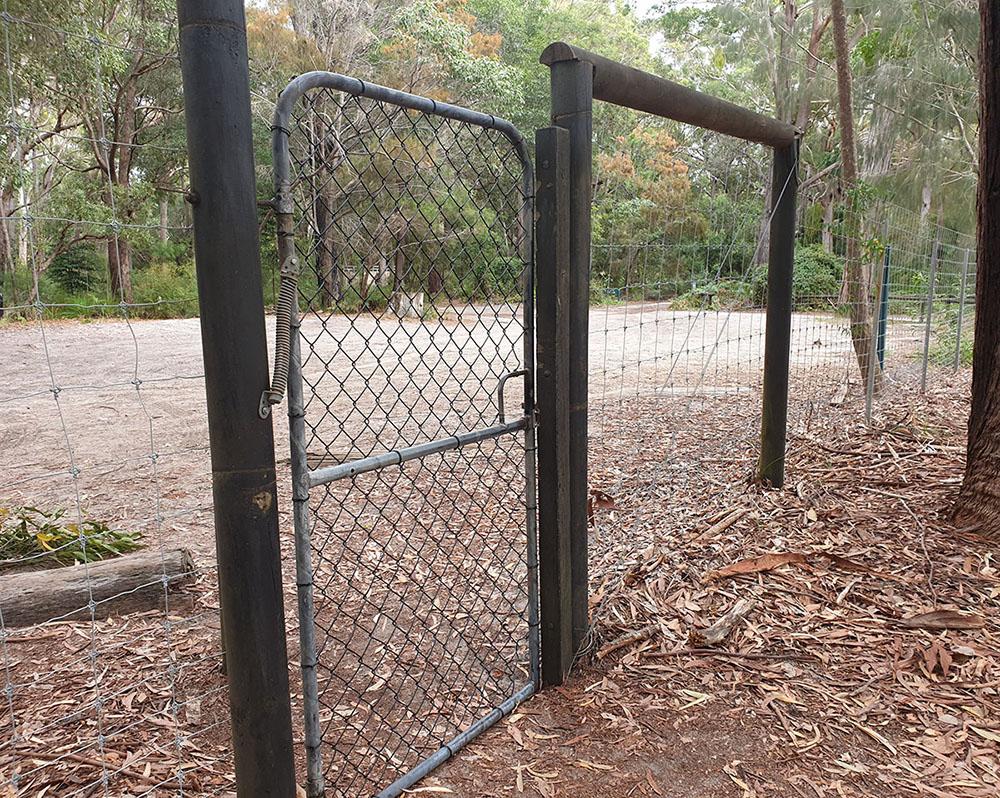 Lake Boomanjin has a fenced camping area