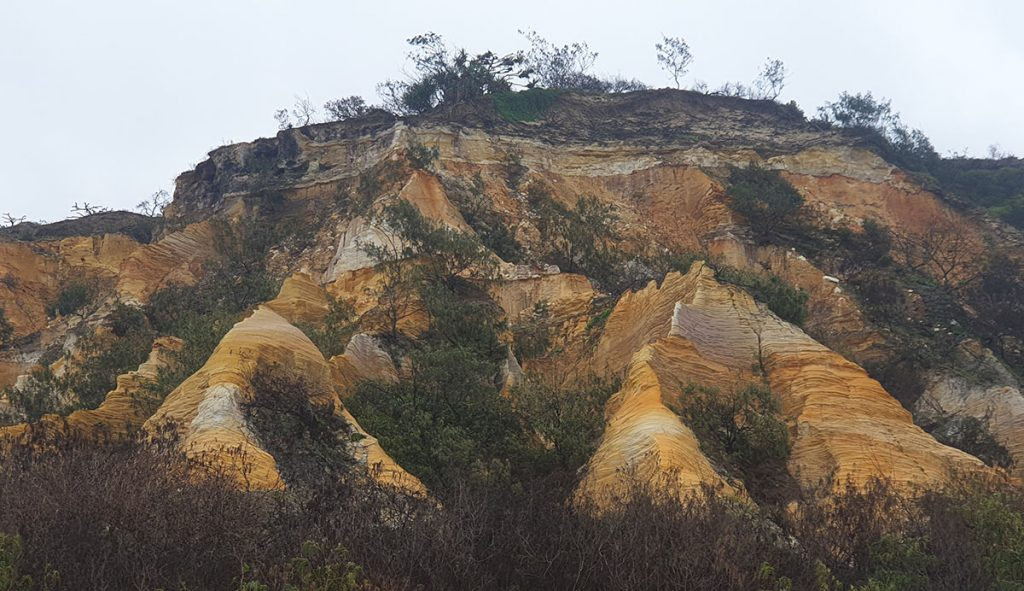 The Pinnacles on Fraser island - Also known as the coloured sands