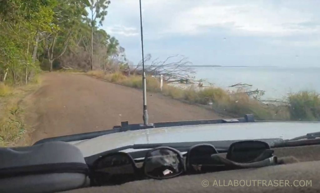 Dirt track out to Inskip Point Rainbow Beach