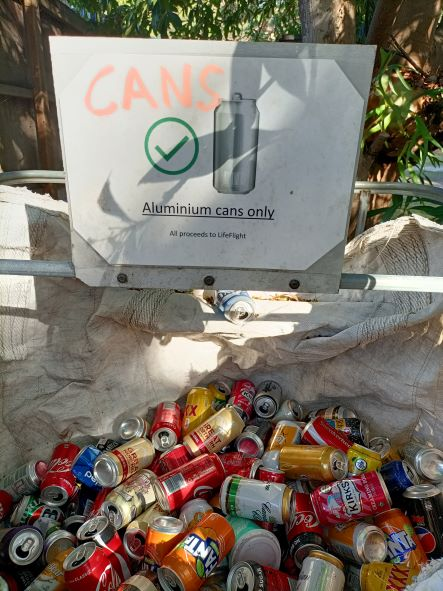 recycling bin at Cathedrals