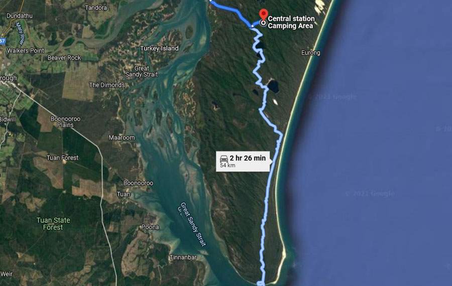 Fraser island how to get to central station